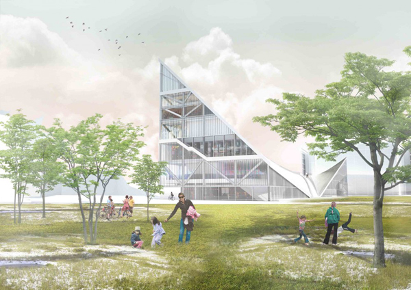 Helsinki Central Library, OODA, architectural competition, OODA, ooda, Helsinki Central Library, bio efficiency, iconic design, Helsinki, Finland, Toolonlahti, sustainable design