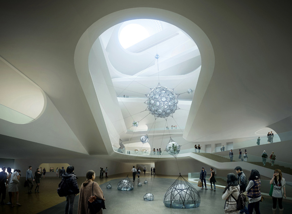 UN Studio, Ben van Berkel, Natinal Art Museum of China, NAMOC, China, museum design, media façade, contemporary design, contextual design