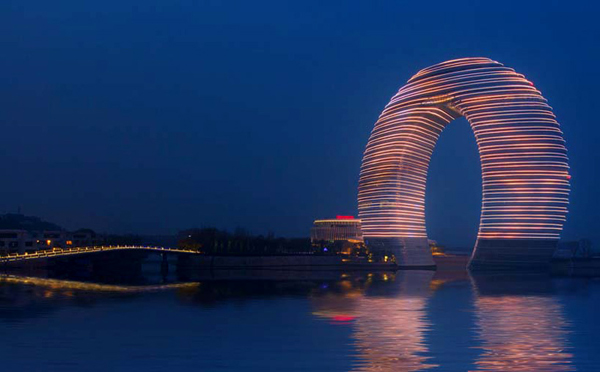 MAD Architects, Huzhou, China, Sheraton, Sheraton Huzhou Resort, sustainable design, eco design, Taihu Lake, statement design, hotel design, high-rise