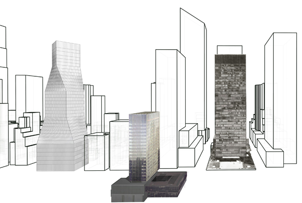 OMA, 425 Park Avenue, architectural competition, high-rise, Manhattan, New York, Park Avenue, high efficiency, rentability, LEED certification