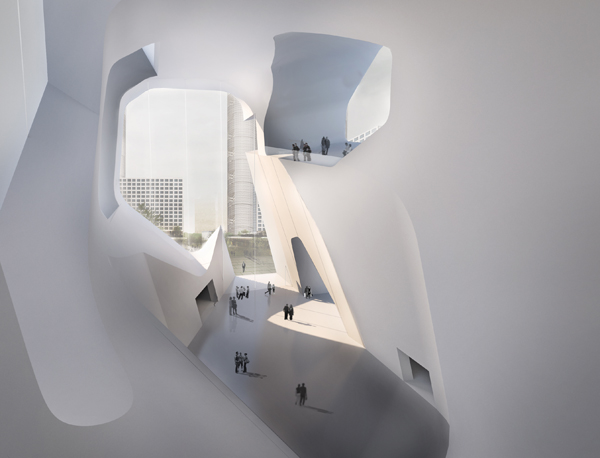 Steven Holl Architects, Tianjin, China, Eco City, Ecology and Planning Museum, museum design, Bohai Bay, green architecture, sustainable architecture, open plan