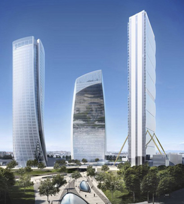 CityLife, Zaha Hadid, Milan, Italy, Europe, high-rise, skyscraper, sustainable design, Fiera Milan, LEED Gold