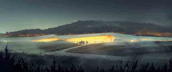 Casson Mann, Duncan Lewis, Snøhetta, Lascaux IV, France, Cave Painting Center, international competition, historic paintings, contextual design, winning entry