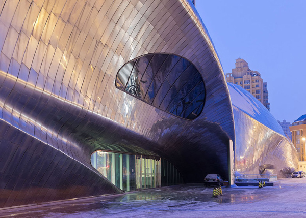 MAD Architects, Wood Sculpture Museum, Harbin, China, sustainable design, polished steel, mirror cladding, cultural facilities, museum design