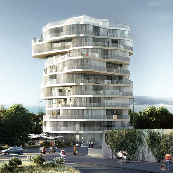 Farshid Moussavi Architecture, Les Jardins de la Lironde, Montpellier, France, architectural competition, residential complex, operable louvers, unit typologies, sustainable design, cross ventilation, minimal footprint