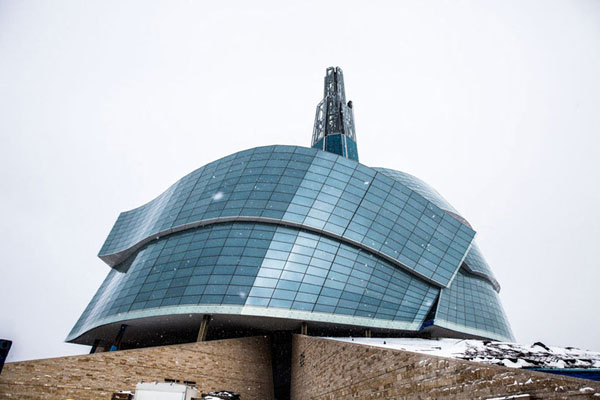 Canadian Museum for Human Rights , Antoine Predock Architects, Winnipeg, Manitoba, Canada, Museum design, environmental ethic, winter garden, cultural facilities
