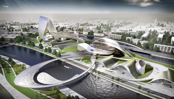 Undulating Structures For Grand Theatre And International