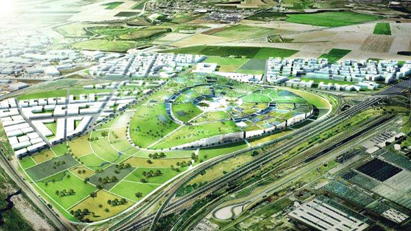 EuropaCity, BIG, architectural competition, France, Île-de-France, Transsolar, sustainable design, geothermal energy, hybrid design, green tech implementations