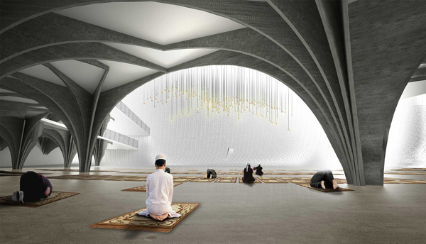 APTUM, Prishtina Central Mosque, MI'RAJ, Prishtina, Kosovo, mosque design, international competition, architectural competition, progressive mosque design, Islamic architecture