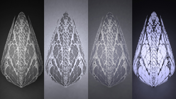 Phýllon, Nikolay Hristov Ivanov, Sustainable design, industrial design, digital fabrication, leaf venation, LED cells, photovoltaic cells, solar energy
