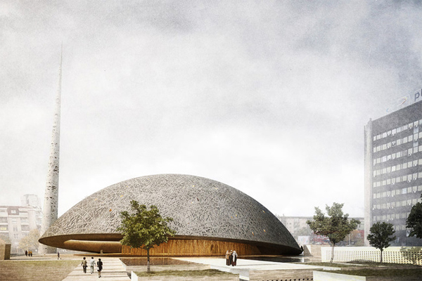 Central Prishtina Mosque, architectural competition, international competition, OODA, AND-RÉ, dome, sustainable design, flexible structures, human-related design