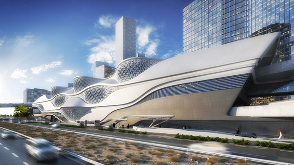 ZAha Hadid, Zaha Hadid Architects, King Abdullah Financial District Metro Station, Riyadh, Saudi Arabia, organic form, mixed-use, multi functional, public space, metro station