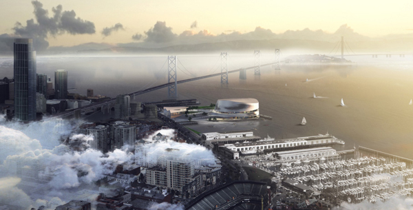 The Golden State Warriors Stadium, Snøhetta, AECOM, San Francisco, US, circular building, sustainability design, technology oriented design, waterfront, mixed-use