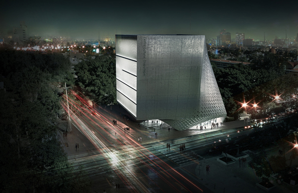Cultural Center, Guadalajara, singular form, poly-functional space, educational facility, Adrian Yau, Frisly Colop Morales, Jason Easter, Lukasz Wawrzenczyk, mixed use, auditorium, public facility