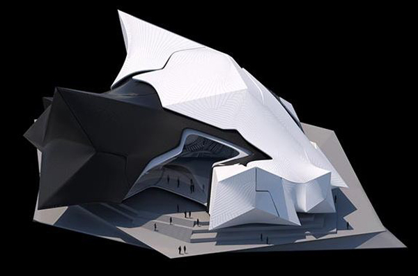 Tom Wiscombe Design, Bulgaria, Walltopia, multi-layered façade, multi-layered skin, organic form, object in object system, Collider Activity Center