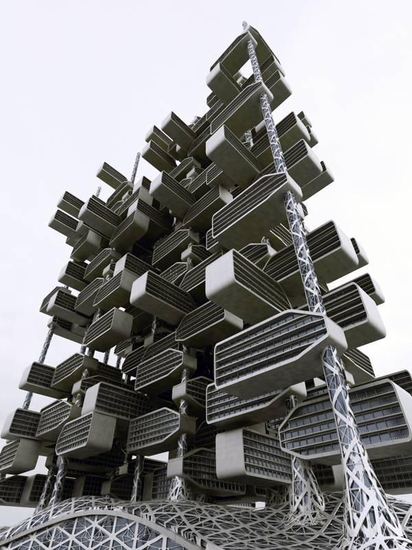 Chlorophyll Tower, IAMZ Design Studio, New York, Manhattan, future of housing, photosynthesis, natural ventilation, indirect daylight, self-sufficient design, sustainable design, tower design, high rise