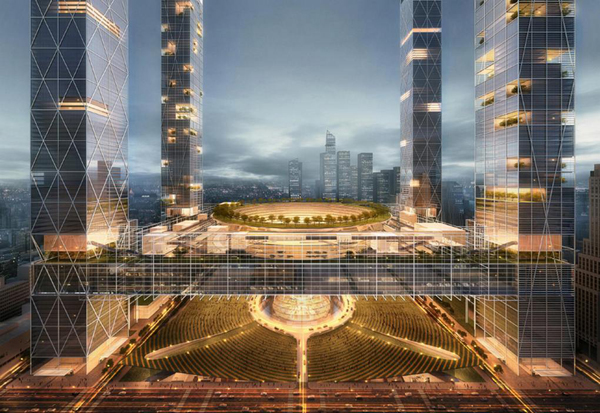 Som S Dramatic Proposal For Penn Station And Madison Square Garden Evolo Architecture Magazine