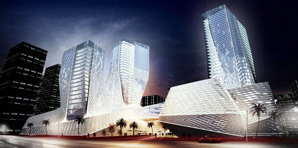 Shanghai Wuzhou International Plaza, China, Shanghai, Synthesis Design + Architecture, SDA, mixed-use, FLVR Studio, Shenzhen General Institute of Architectural Design and Research, winning proposal, invited competition
