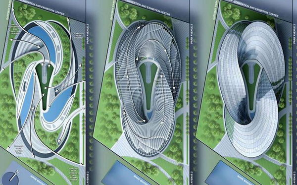 Swallow's nest, Vincent Cellebaut, parametric design, eco design, sustainable design, Mobius' ring, flexibility, zero carbon emission