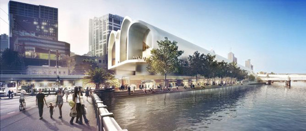 Highly contextual proposal for flinders street station for Urban design architects melbourne