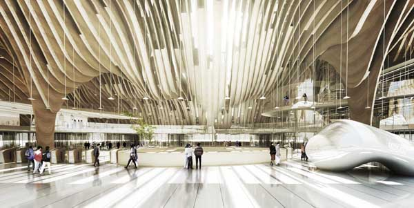 Taichung City Cultural Center, Taichung, Taiwan, BAT, Bilbao Architecture Team, competition entry, architectural competition, sustainable design, organic architecture, laminated wood, cultural facilities