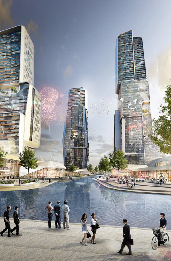 UNStudio, Ben Van Berkel, Yongjia World Trade Center, Wenzhou, China, World Trade Center, mixed-use, urban zoning, architectural competition, first prize