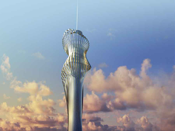 RTA Office, Santiago Parramon, Istanbul, Turkey, Telecommunication Tower, high rise, skyscraper, tower, sustainable design, wind power, wind energy, transparent skin