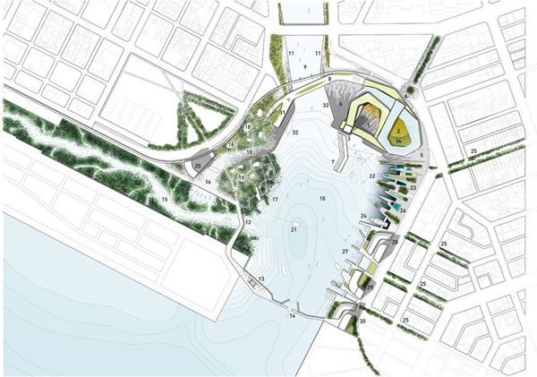 Studio Gang, Kaohsiung Marine Culture and Pop Music Center, Kaohsiung, Taiwan, architectural competition, urban performance venue, overlapping programs, tubular structure, wrapping structure, shortlisted