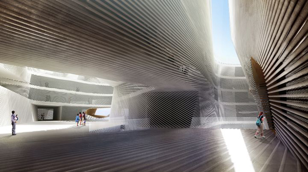 RTA Office, Santiago Parramon, Taichung cultural Center, Taiwan, architectural competition, container, transparent skin, compact form, sustainable design, environmental design