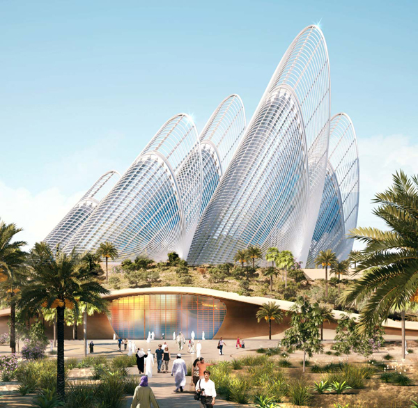 Foster and Partners, Abu Dhabi, UE, United Emirates, Sheikh Zayed bin Sultan Al Nahyan, Zayed National Museum, museum, sustainable design, sustainable architecture, lightweight steel structure, thermal chimney, thermal towers