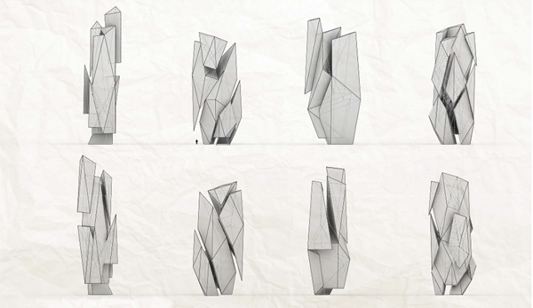 SCI-Arc, Southern California Institute Of Architecture, Los Angeles, California, Segregated Monoliths, final thesis, Alex Phi, monolith structure, high-rise, skyscraper