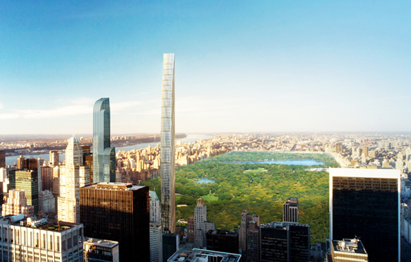 New York, SHoP Architects, US, Empire State Building, Steinway Building, Narrow tower, landmark, Central Park