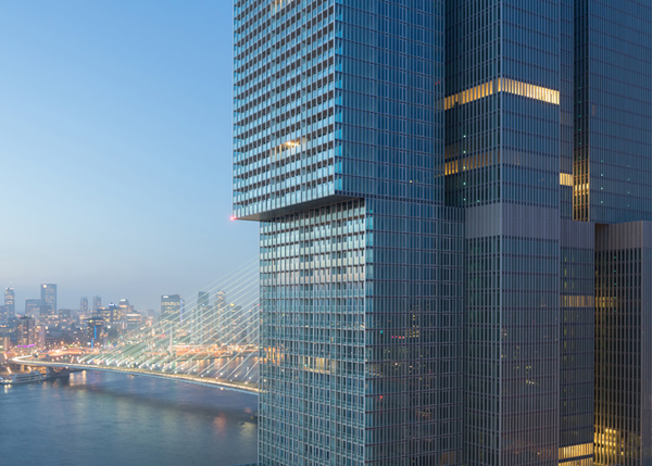 OMA, Rem Koolhaas, Rotterdam, Netherlands, New York, De Rotterdam, high-rise, tower, harbor, pier, Maas, Ellen van Loon