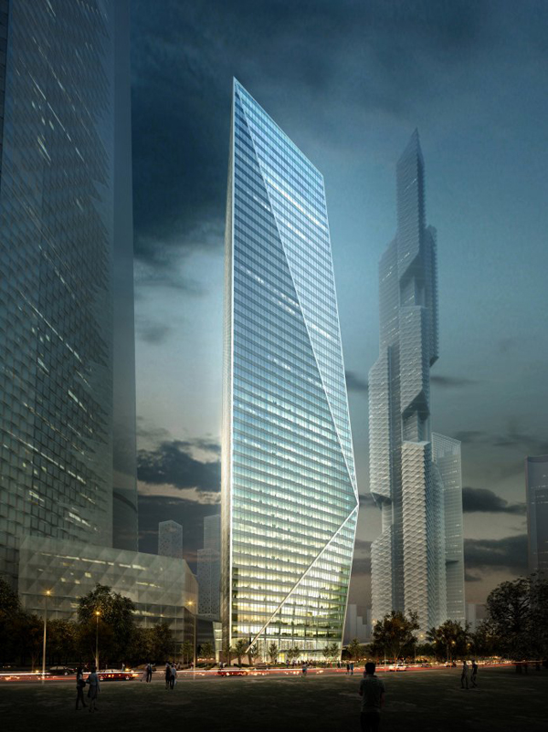 Harmony Tower, South Korea, Seoul, Yongsan International Business district development, YIBD, faceted, winter garden, Daniel Libeskind, Studio Daniel Libeskind