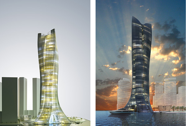 Tower, skyscraper, Michael Schumacher, LAVA, Laboratory for Visionary Architecture, snowflake tower, abu dhabi