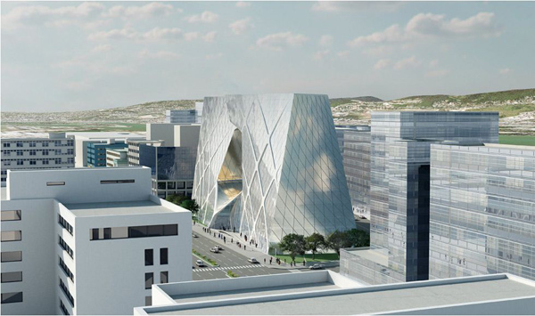 Budapest, Hungary, Vaci Street, Asymptote Architecture, Headquarters, Budapest Bank, bank, hq, curtain wall, curtain wall glazing