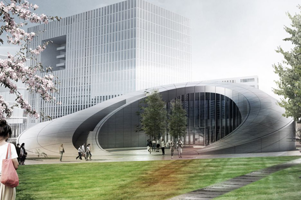 Henn Architects, Henn, Berlin, Suzhou, China, The Showroom for Nanotechnology, Nanopolis Masterplan, organic form