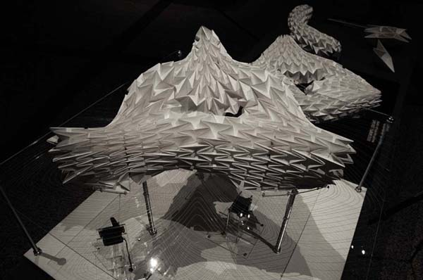 The Breathing Shelter, Rhina Portillo, Matthias Urschler, Vienna, Austria, University of Applied Arts, kinetic model, pavilion, sustainable design, air flow