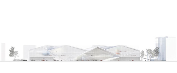 Helsinki, finland, central library, architectural competition, henn, ala architects, diagonal structure, transparency