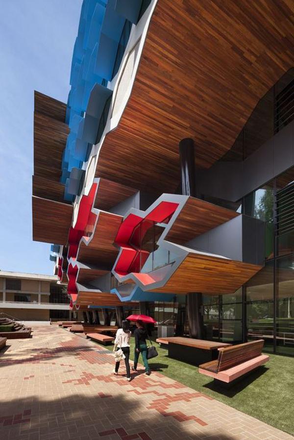 Lyons, Australia, university, La Trobe Institute for Molecular Science, Australian Institute of Architects, architectural competition, cellular façade, precast concrete