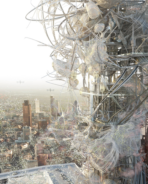 Pollution, utopia, London, united kingdom, Royal College of Art, thesis, research, Buckminster Fuller, high rise, tower, Chang Yeob Lee