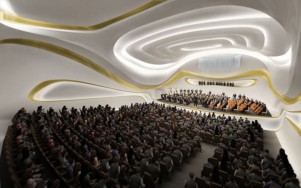Zaha hadid, zaha hadid architects, Nanjing, china, Nanjing Culture and Conference Center, concert hall, mixed-use