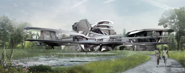 Studio Greg Lynn, University of Applied Arts, Vienna, Austria, Vojtech Geryk, Sfera Archtects, Brain Technology Center