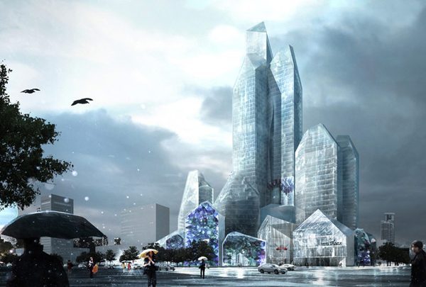 LAVA, iceberg, ice city, north china, china, hotel, retail, harbin, transparent, ice, digital fabrication
