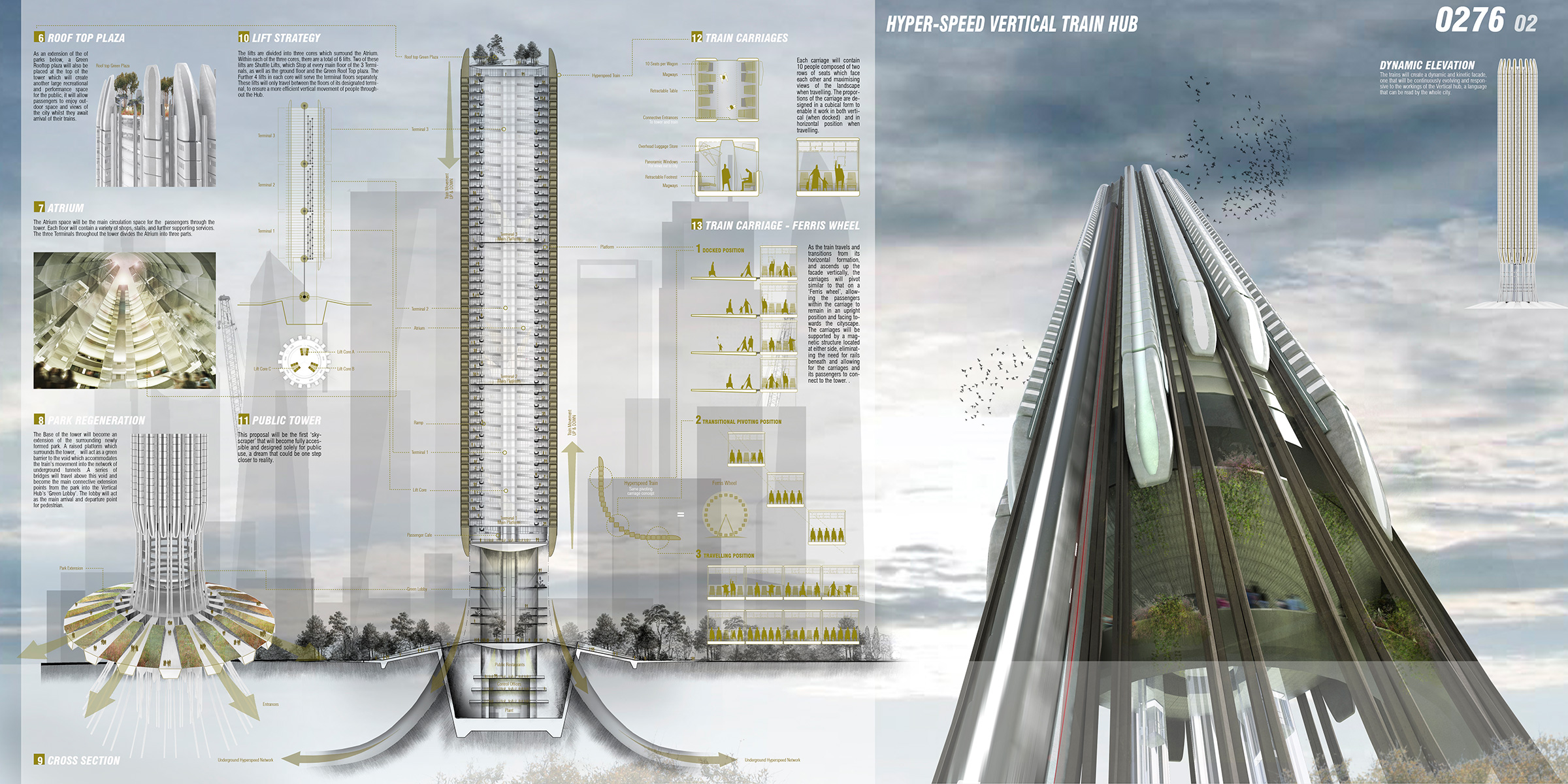 Hyper Speed Vertical Train Hub Evolo Architecture Magazine