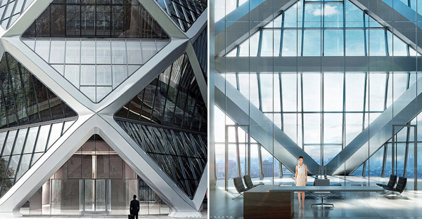 Diagrid Exoskeleton For Poly International Plaza In Guangzhou