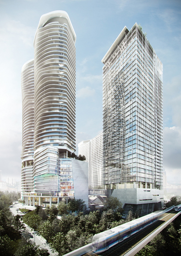 Exciting Mixed Use Undulating Towers For Kuala Lumpur