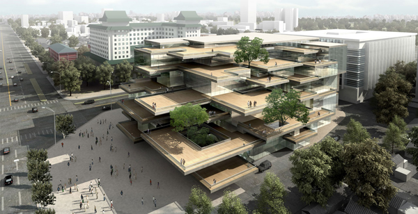 Huangdu, Beijing, China, MAD, MAD Architects, Ma Yansong, hutong, tradition, housing block, Huangdu Art Center, urban sprawl