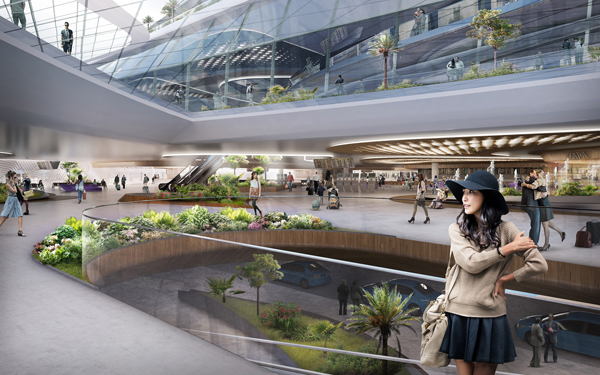 Singapore, Changi, Ben Van Berkel, UNStudio, airport, iconic, development, project jewel's area, changi airport