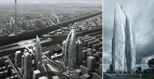 Mad architects, Ma Yansong, tower, 800m tower, china, twin towers, landmark, iconic